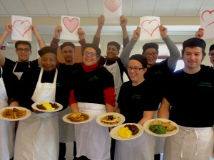 Image of Happy, Thankful Culinary School Students
