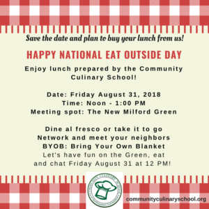 National Eat Outside Day Lunch in New Milford, CT @ New Milford Green